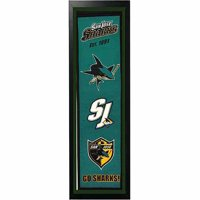 "NHL 14"" x 37"" Banner Frame, San Jose Sharks"