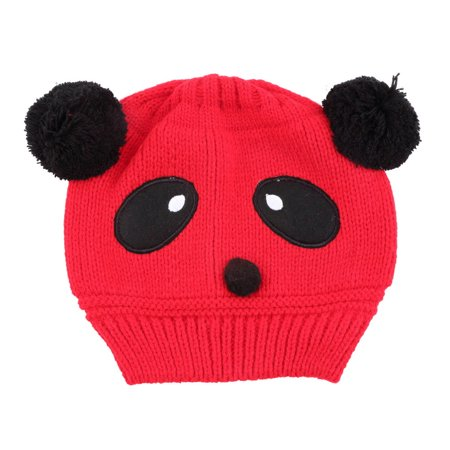 Colorful Baby Girl Boy Kids Panda Hat Knit Winter Warm Crochet Cap