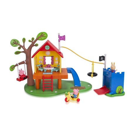 Nick Jr. Peppa Pigs Treehouse and Georges Fort Playset - Nick Jr Peppa Pig
