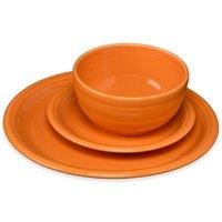 """Fiesta 3 Piece Bistro Set (White), Includes: One 10.5"""" bistro dinner plate One 7.25"""" bistro salad plate One 22 oz. small bistro bowl By Unknown"""