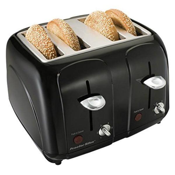 Hamilton Beach Brands 24201 Toaster, 4-Slice, Cool Touch, Chrome