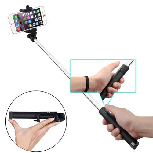 Compact Monopod Selfie Stick for Samsung Galaxy Sol S9+ S9, S8+, S8 active, S7 Edge Active S6 Edge+ Edge, Active S5 Sport (SM-G860P) Mini, Active, Prevail LTE On5 Note8 Note Edge 5 4 3