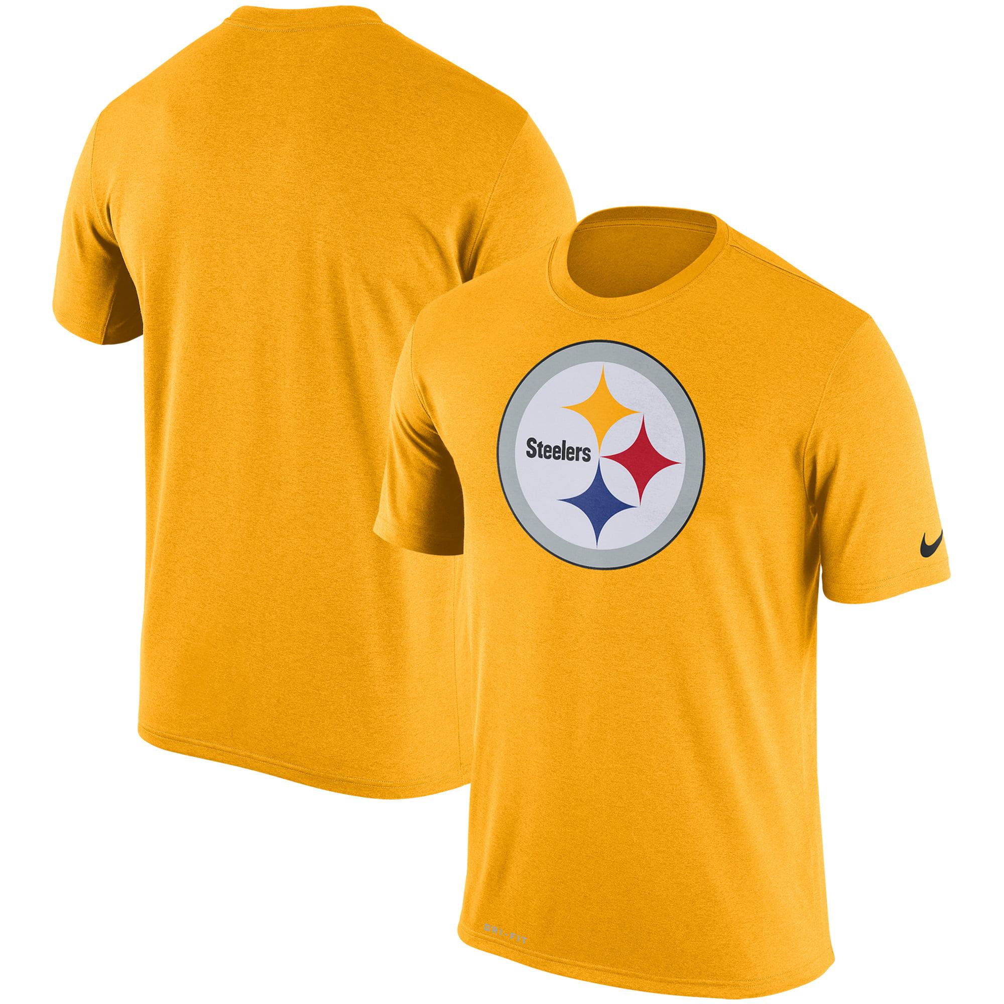 Pittsburgh Steelers Nike Legend Performance Logo Essential 3 T-Shirt - Yellow