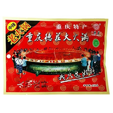 Chongqing Specialty: De Zhuang Hotpot Seasoning Hotpot Condiment or Seasoning or for Chuan Chuan Xiang or Ma La Tang 150g/5.3oz ???????? (medium