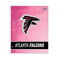 NFL Atlanta Falcons 2 Pocket Portfolio, Three Hole Punched, Fits Letter Size