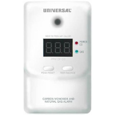 Universal Security Instruments MCN 400 Alarme intelligente enfichable 2-en-1 au monoxyde de carbone et au gaz naturel avec batterie de secours - image 1 de 1