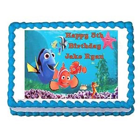 FINDING NEMO party decoration edible image cake topper frosting - Finding Nemo Baby Shower Cake