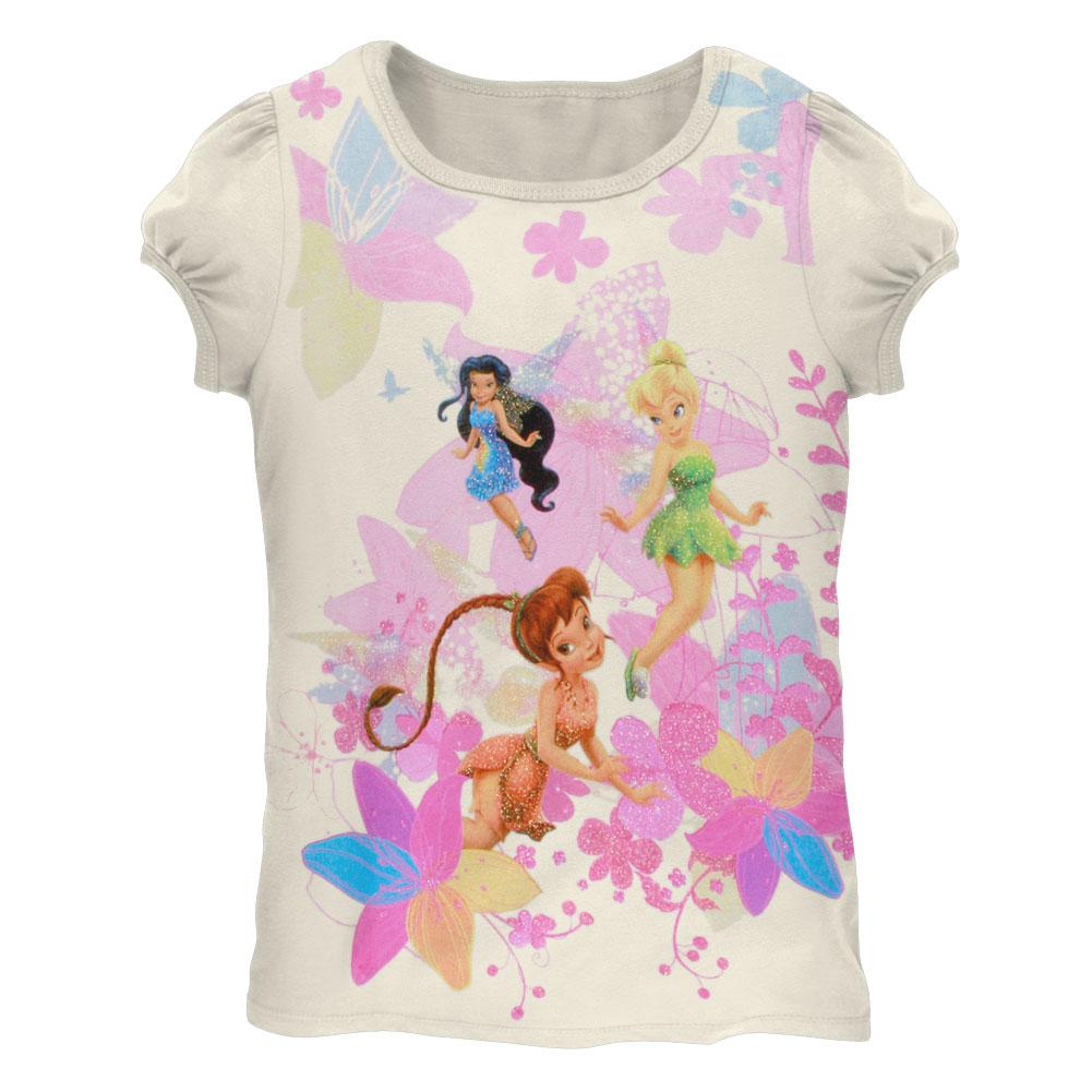 Disney Fairies - Colorful Flowers Juvy Girls T-Shirt