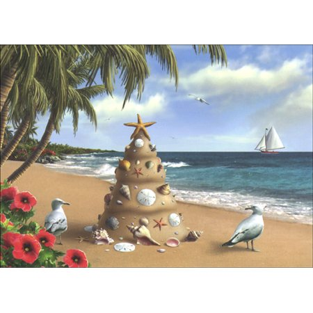 Tropical Christmas.Lpg Greetings Holiday In Paradise Warm Weather Tropical Christmas Card