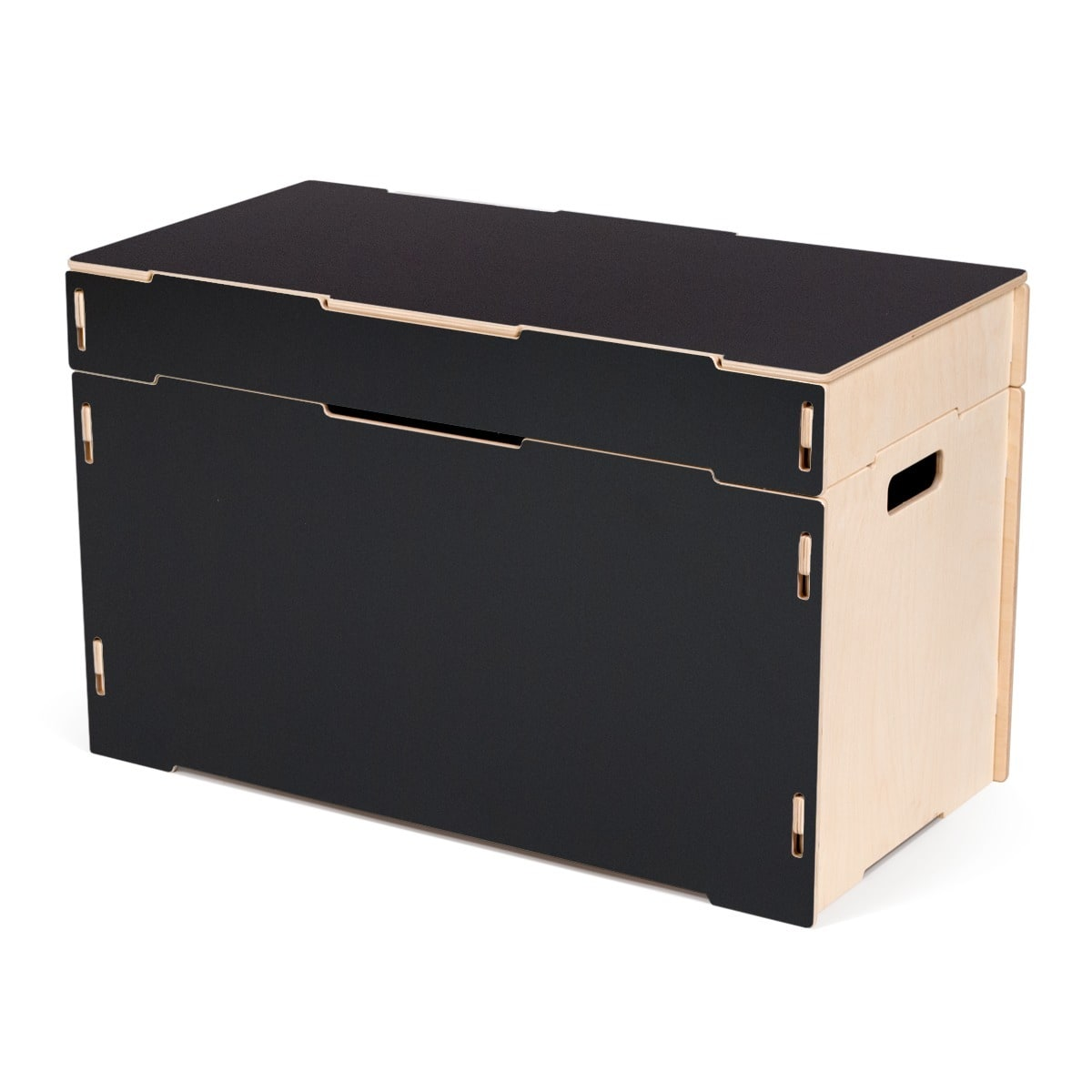 Sprout Small Wooden Storage Bench Black Walmart Com