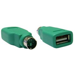 Dare Usb - Cable Wholesale 30U2-26300 Keyboard & Mouse Adapter with USB Type A Female to Minidin 6 Male - Green