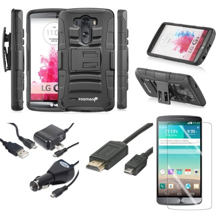 lg g3 heavy duty case screen protector slimport hdmi tv cable chargers. Black Bedroom Furniture Sets. Home Design Ideas