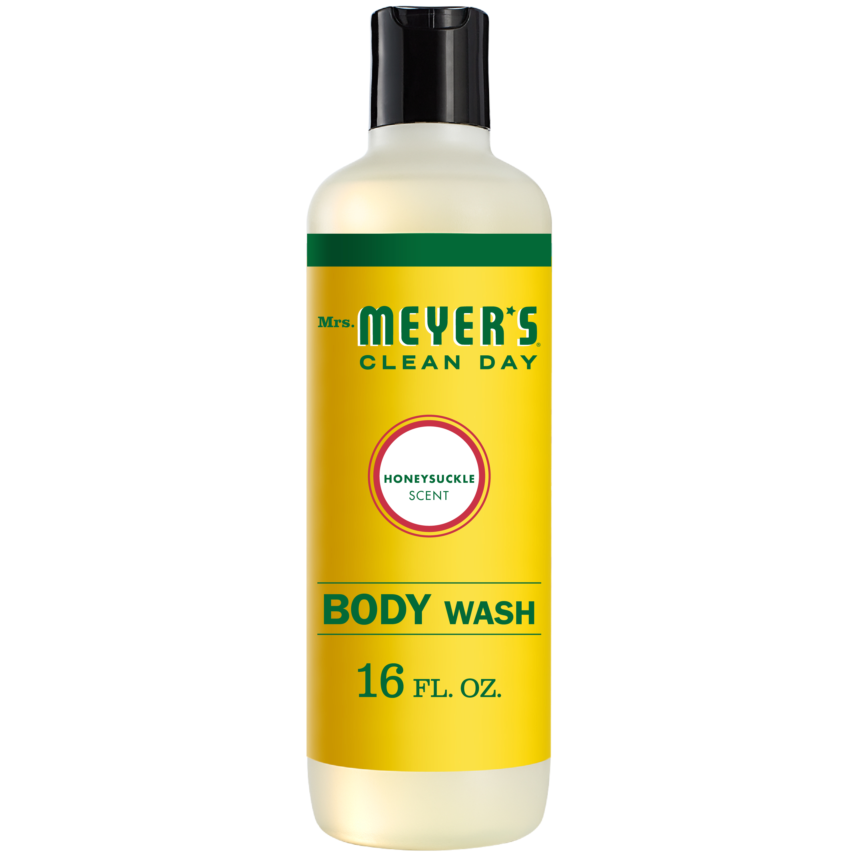 Mrs. Meyer's Clean Day Body Wash, Honeysuckle Scent, 16 ounce bottle