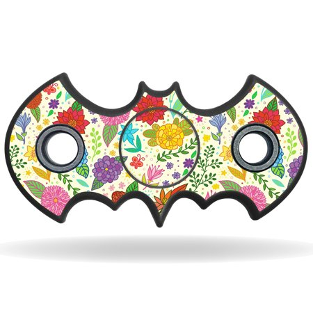 Skin Decal Wrap For Bat Shaped Fidget Spinner Toy Sticker Flower Garden
