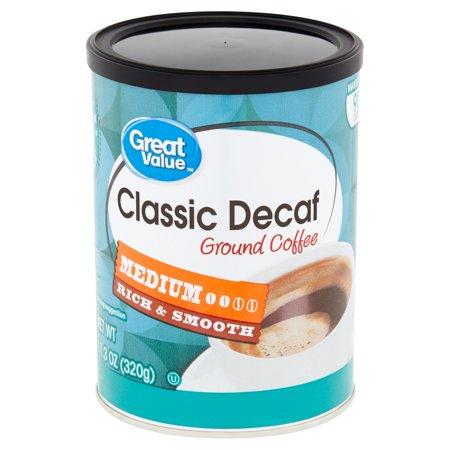 Classic Decaf Coffee (Great Value Classic Decaf Medium Ground Coffee, 11.3 oz)