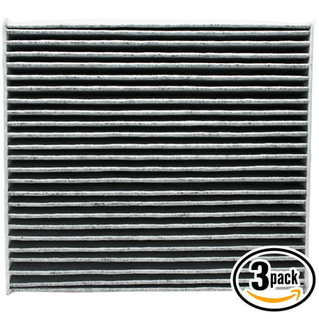 3-Pack Replacement Cabin Air Filter for 2016 Toyota HIGHLANDER V6 3.5L 3456cc Car/Automotive - Activated Carbon, ACF-10285 - image 4 de 4