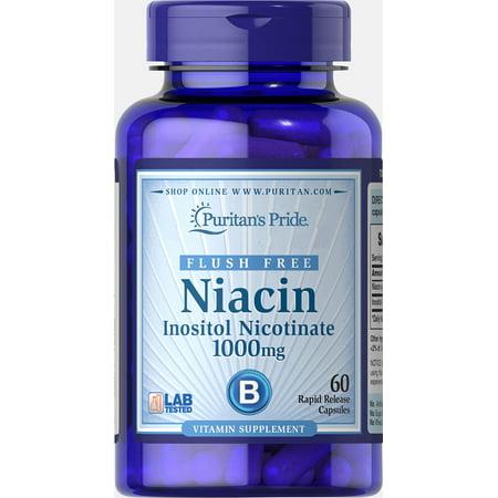 Puritan's Pride Flush Free Niacin Inositol Nicotinate 1000 mg