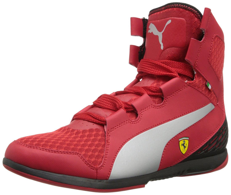 ... discount puma puma mens ferrari valorosso mid webcage rosso corsa black  high top fashion sneaker 10m d528afaab