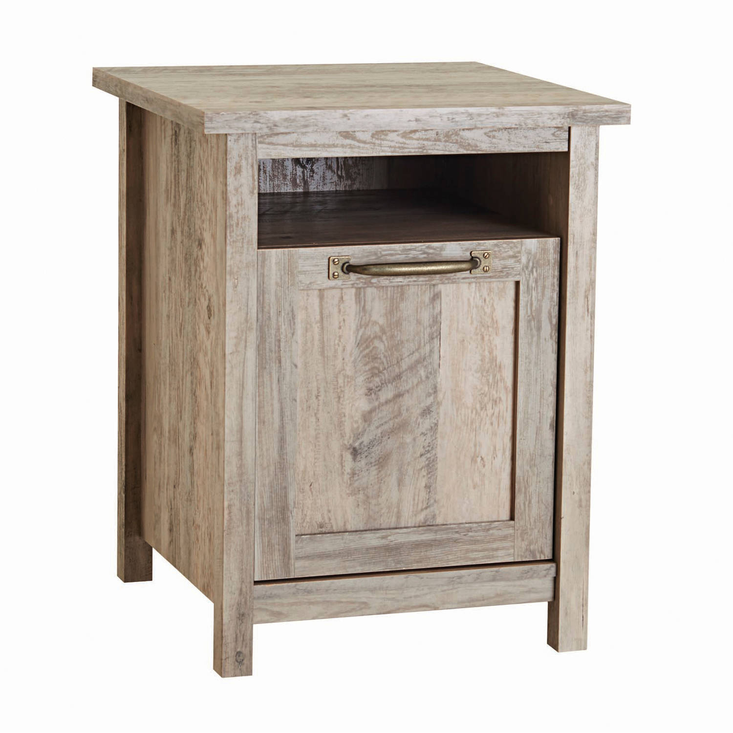 Better Homes And Gardens Modern Farmhouse Side Table, Rustic Gray Finish