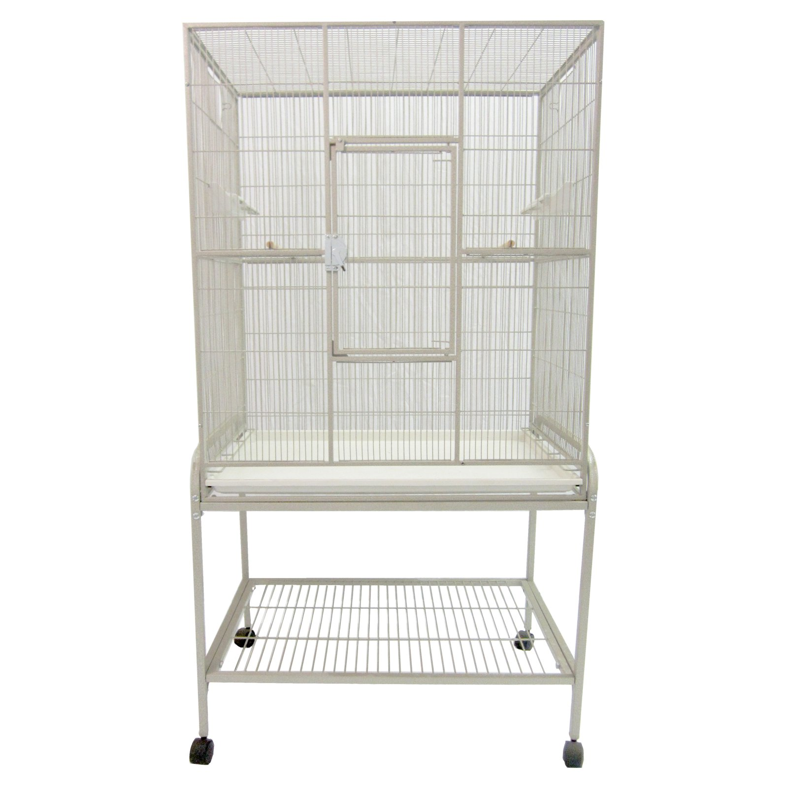 """A and E Cage Co. 35"""" Wrought Iron Flight Bird Cage"""