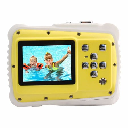 Camera for Kids,Kids Underwater Digital Action Camera,Waterproof High Definition Underwater Swimming Digital Camera Camcorder, 3 Meters Waterproof 720P 12 - 12 Mp Black Camera