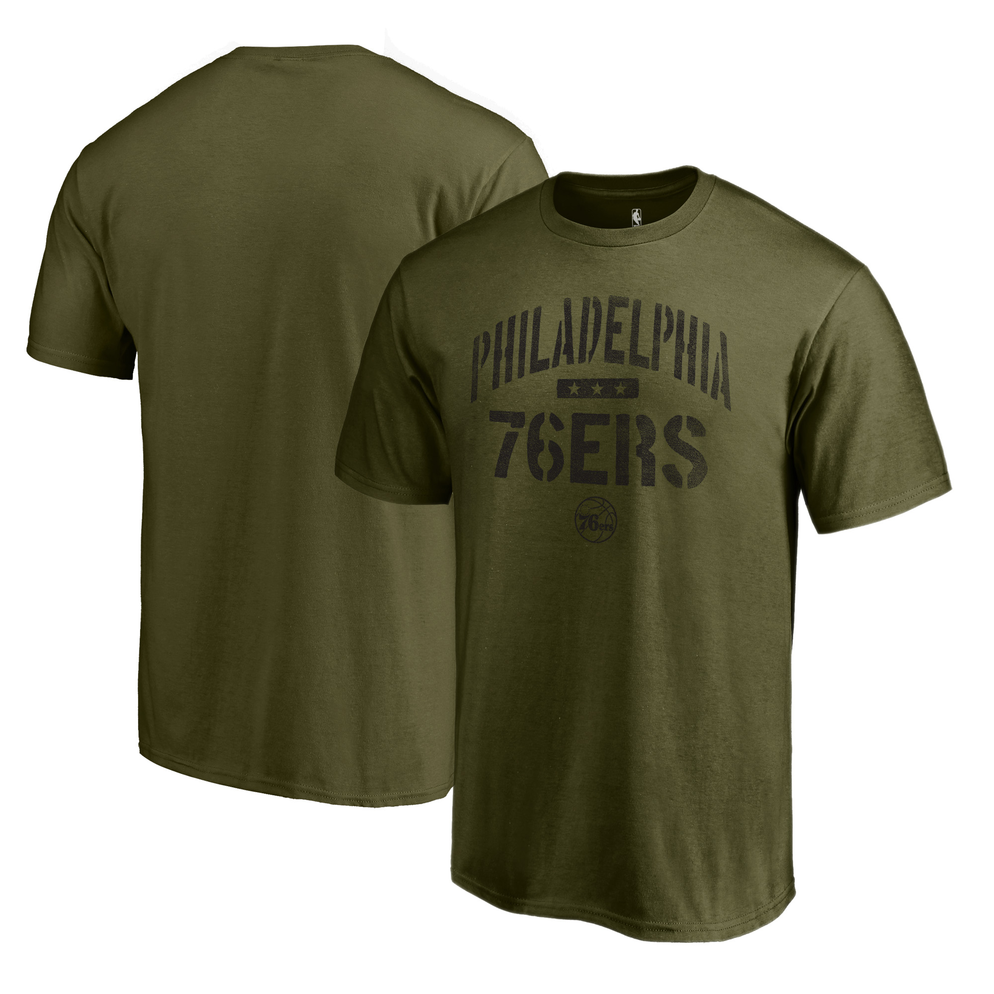 Philadelphia 76ers Fanatics Branded Camo Collection Jungle T-Shirt - Green