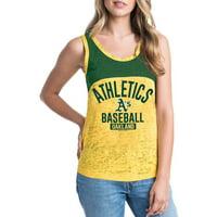 MLB Oakland Athletics Women's Short Sleeve Team Color Graphic Tee