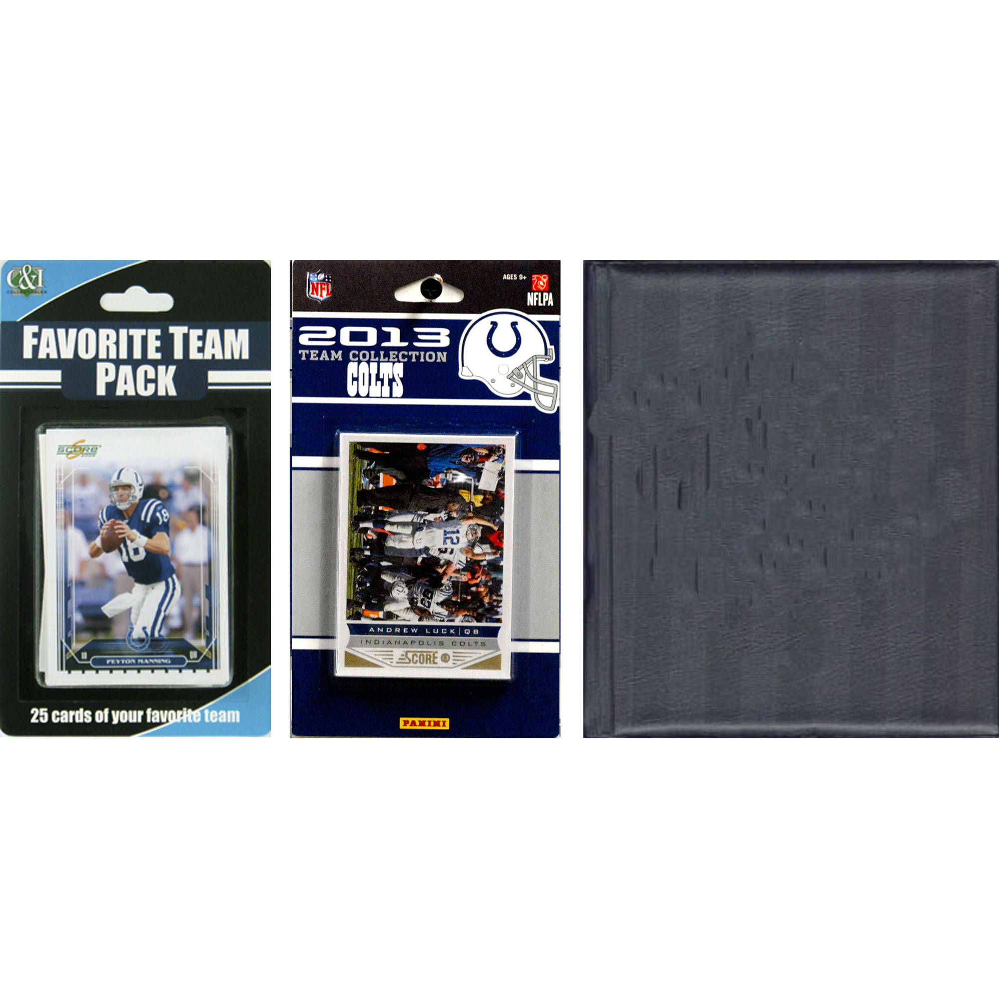 C&I Collectables NFL Indianapolis Colts Licensed 2013 Score Team Set and Favorite Player Trading Card Pack Plus Storage Album