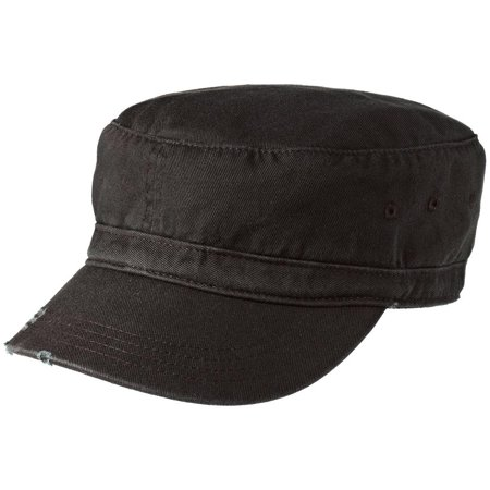 Penn Distressed Hat - Mafoose Men's Distressed Military Style Hat Black