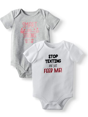 70e43152a4465 Product Image Graphic Short Sleeve Bodysuits, 2-pack (Baby Girls)
