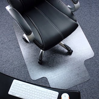 "Ktaxon 36"" X 48"" PVC Chair Mat Protector Floor Carpet Home Office Rolling Chair Studded with Lip"