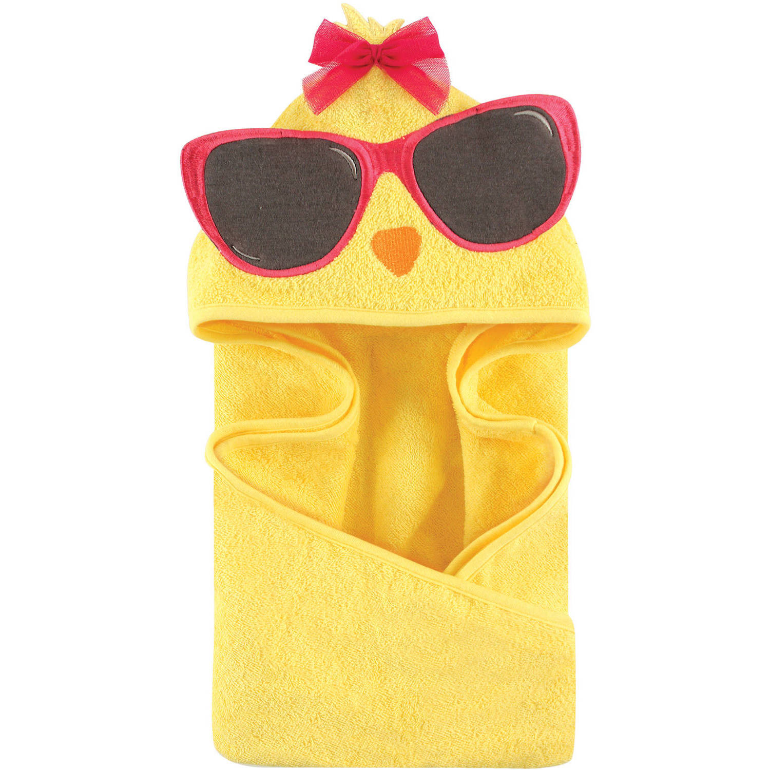 Hudson Baby Animal Hooded Towel, Cool Chick