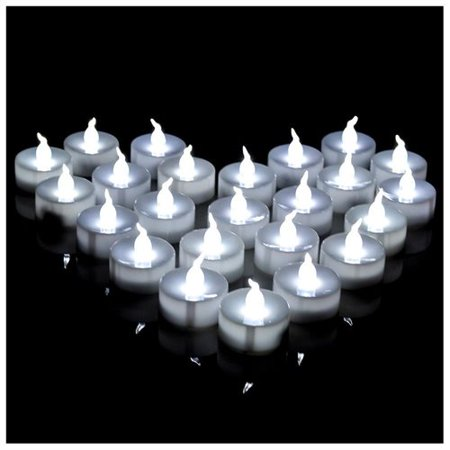 AGPtek LED Tealight timer Candles Battery Operated Flameless smokeless Lot 24 PCS for Wedding / Party