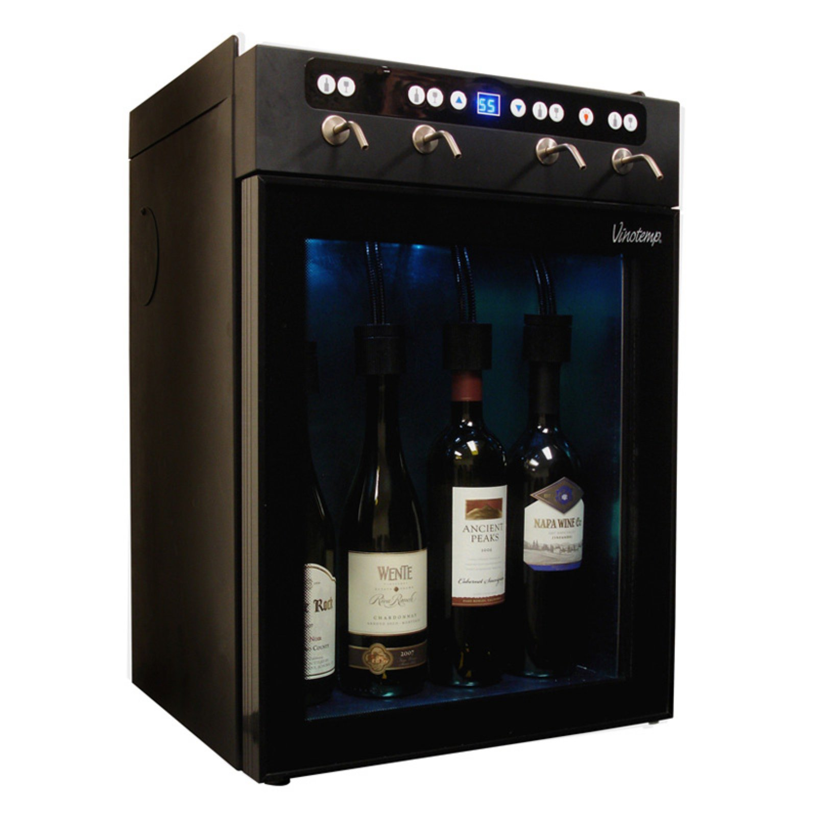 Vinotemp VT-WINEDISP4 4 Bottle Compressor Wine Dispenser