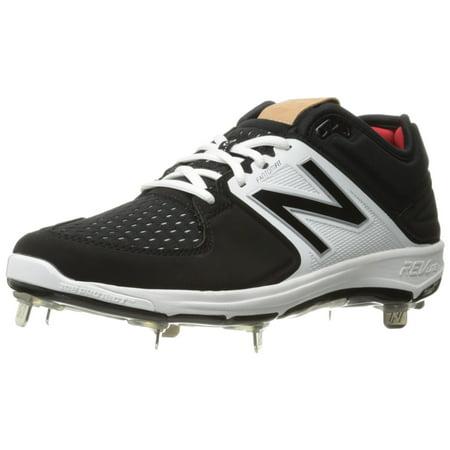 New Balance Men's L3000V3 Baseball Shoe, Black/White, 10 2E US