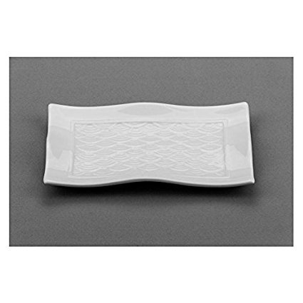 Modern M8568, 8x4.75-Inch White Rectangular Porcelain Plate, Square Serving Platter Tray, Classic Serving Plate (1 Piece)