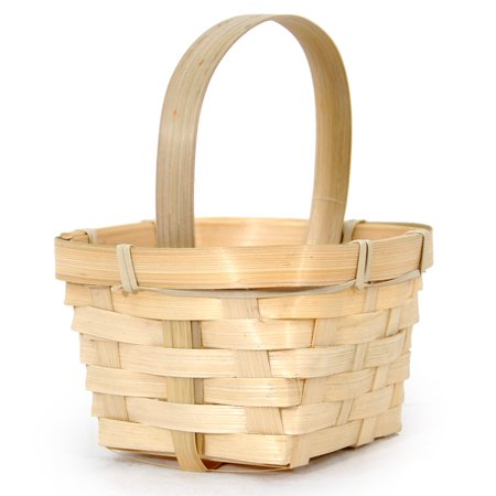 Gardens Paradise Basket (Garden Winds Miniature Bamboo Handle Basket - Square 3in)