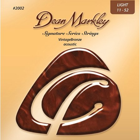 Signature Vintage Bronze Acoustic Strings, 11-52, 2002, Light, Light Gauge By Dean Markley From
