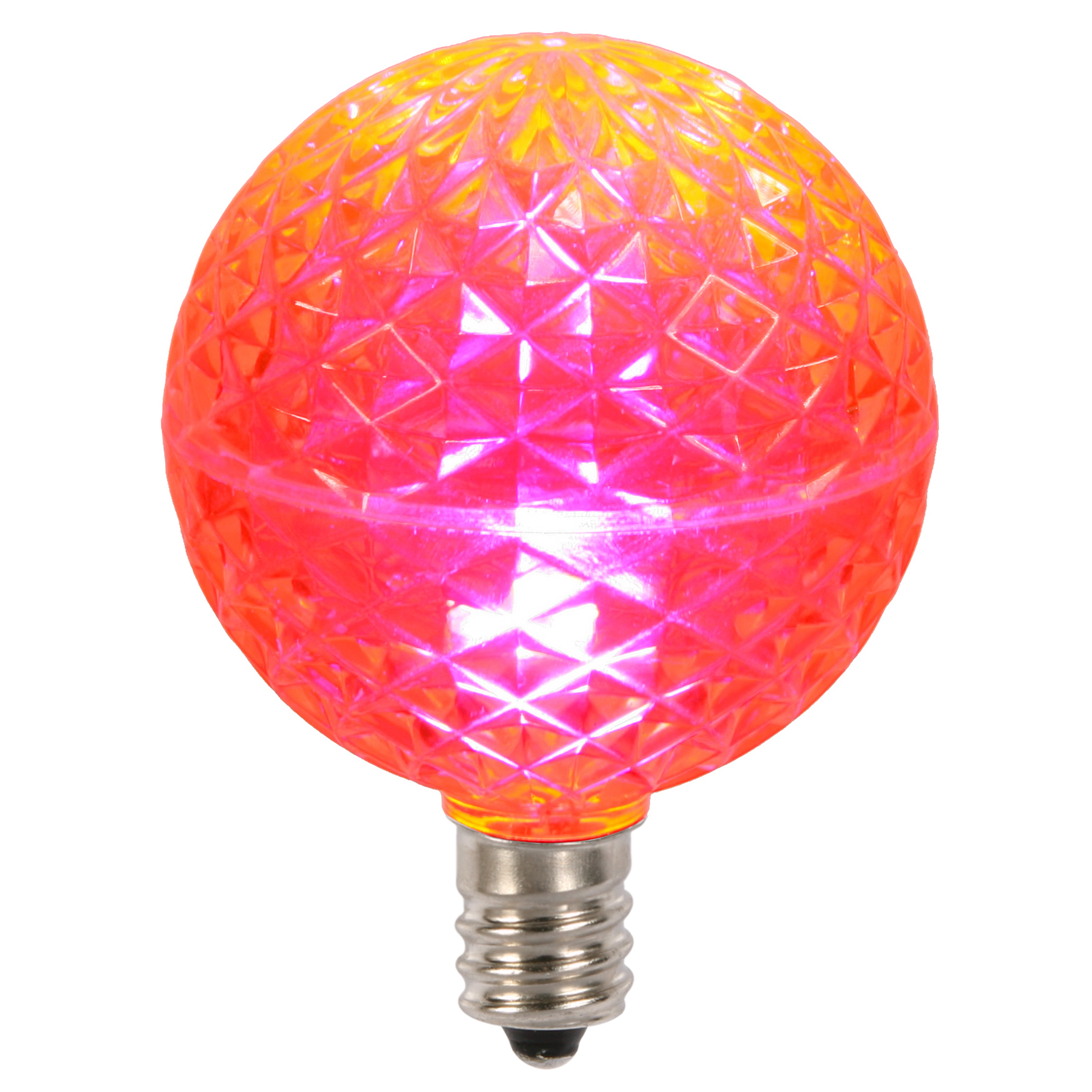 E12 Led Walmart: Vickerman G50 Faceted LED Pink Replacement Bulb E12 .38W