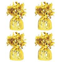 Foil Balloon Weight, Gold, 4-Pack (4 Weights)