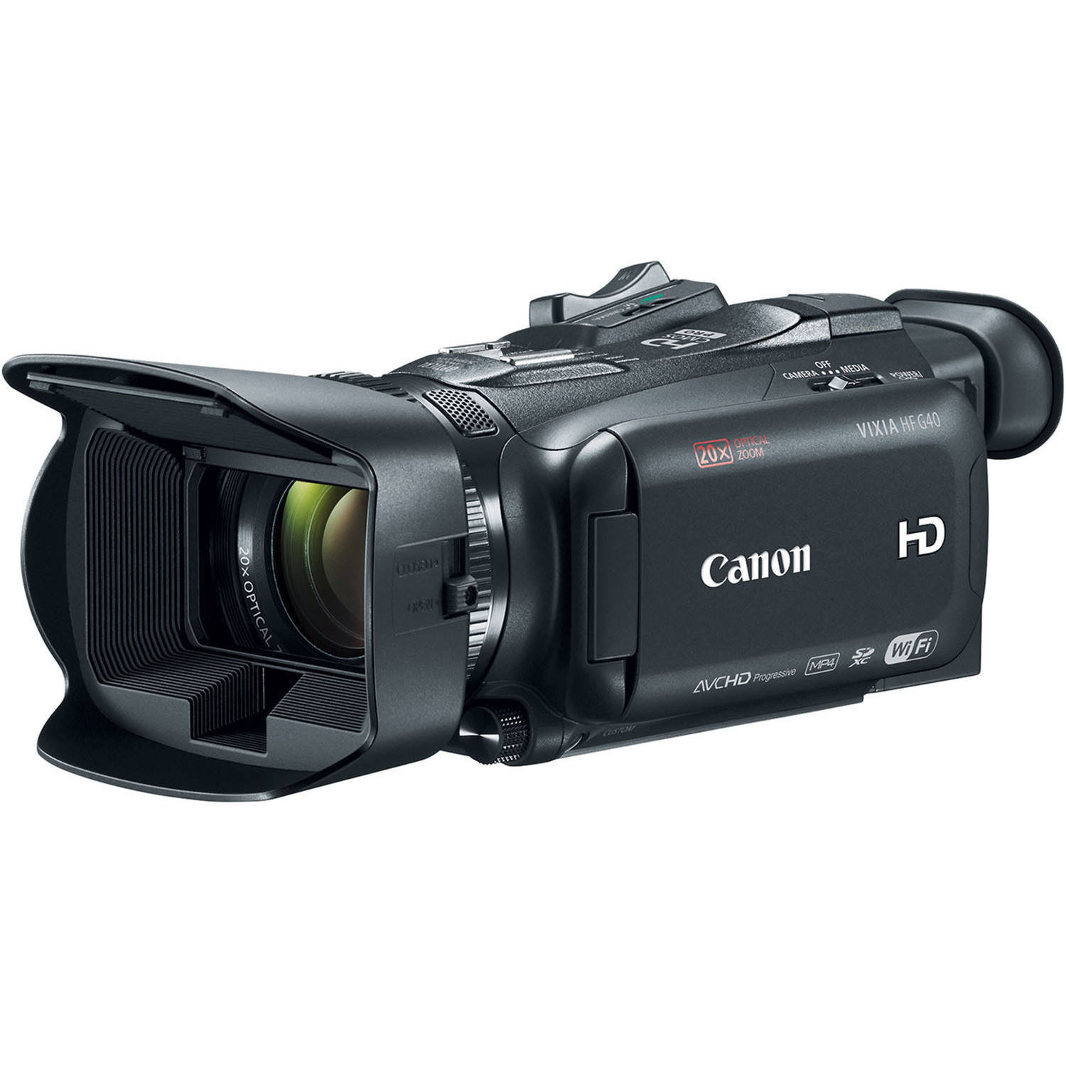 "Canon VIXIA HF G40 Black Camcorder with 20x Optical Zoom, 3.5"" OLED and Image Stabilization"