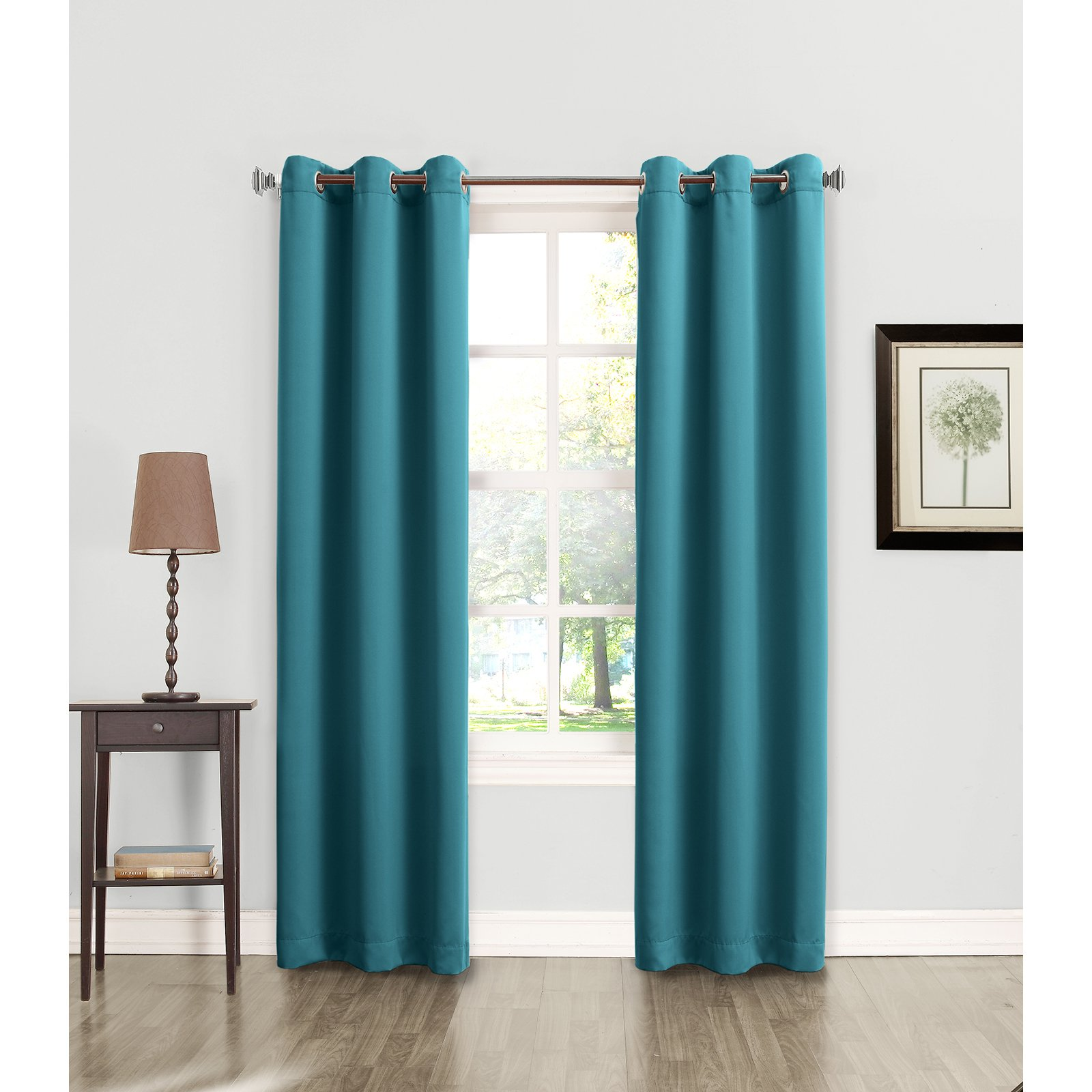 Sun Zero Millennial Arya Room Darkening Grommet Curtain Panel
