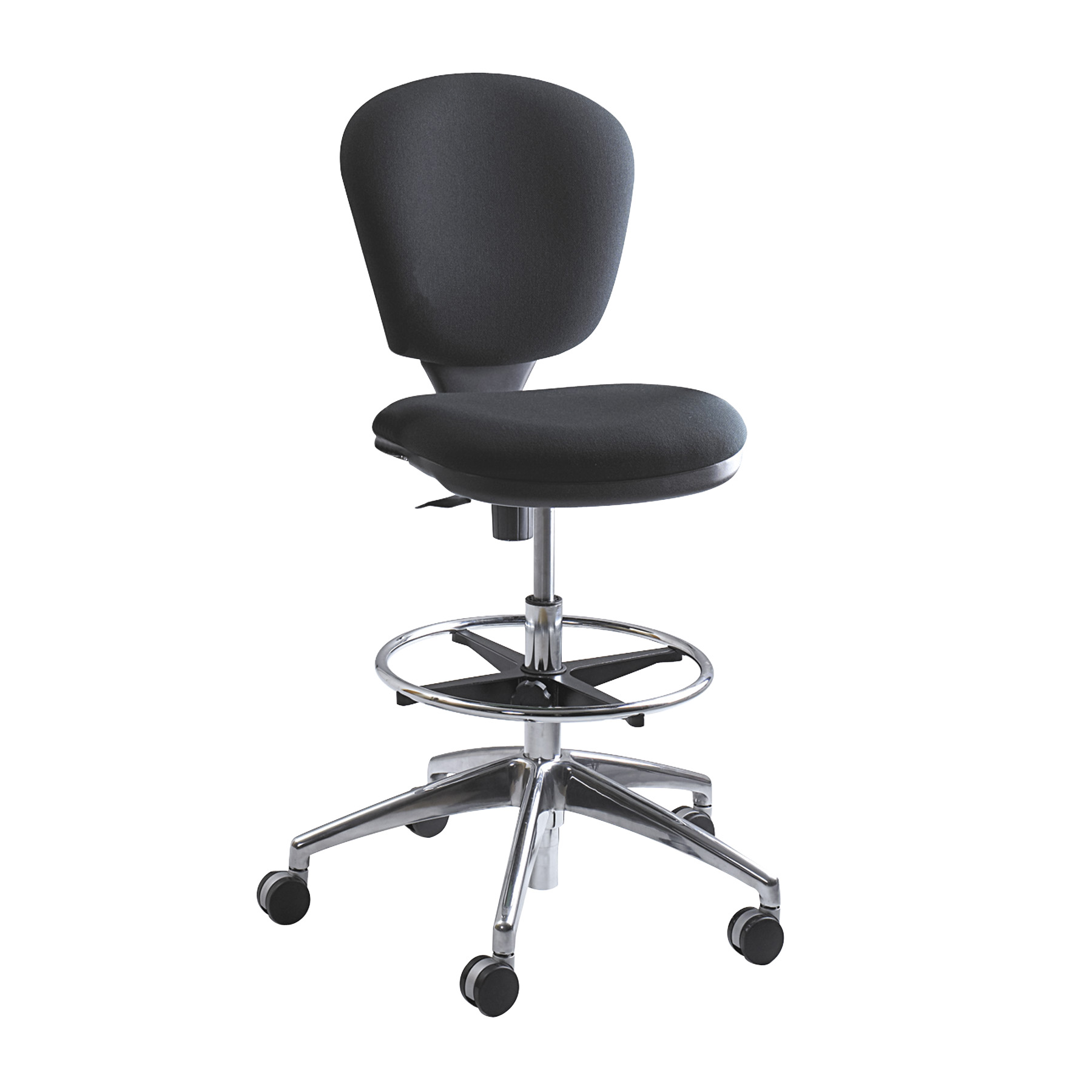 Merveilleux 3442BL Metro Contoured Back Swivel Extended Height Black Drafting Office  Chair With Two Tone