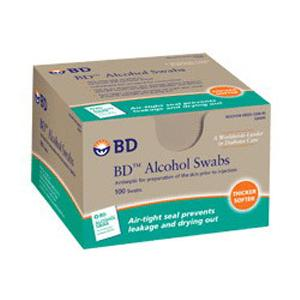 BD Alcohol Swabs Box of 100 - 5 pack