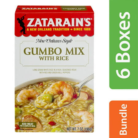 (6 Pack) Zatarain's Gumbo Mix, 7 oz