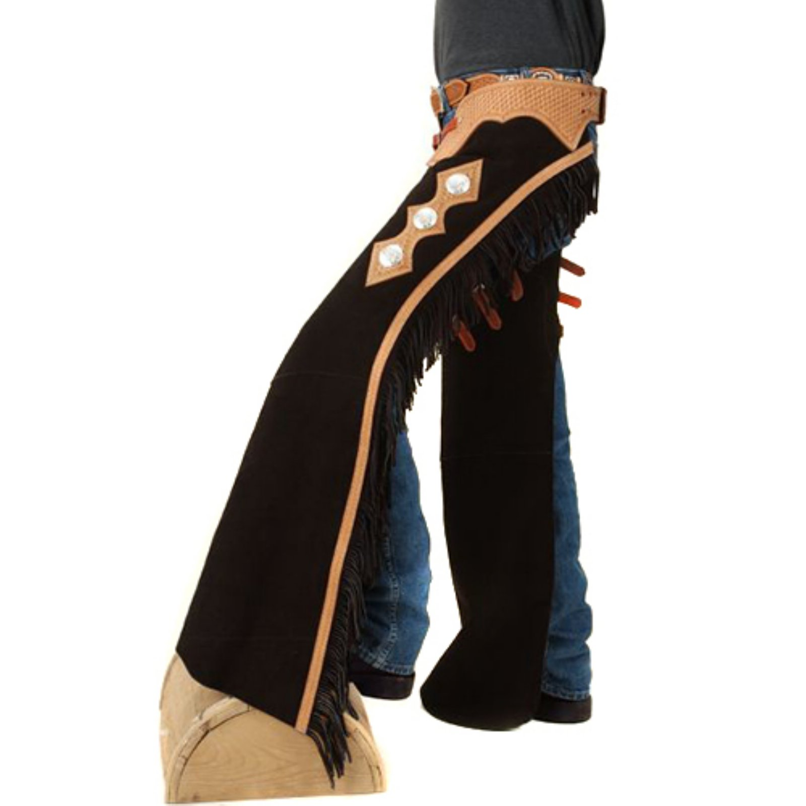 Tough-1 Suede Leather Show Chaps