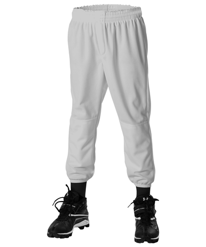 Alleson Youth Pull-Up Baseball Pants - Grey - Small