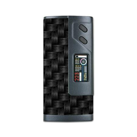 Skin Decal For Sigelei Fuchai 213W Plus Vape Mod / Black Grey Carbon Fiber Weave