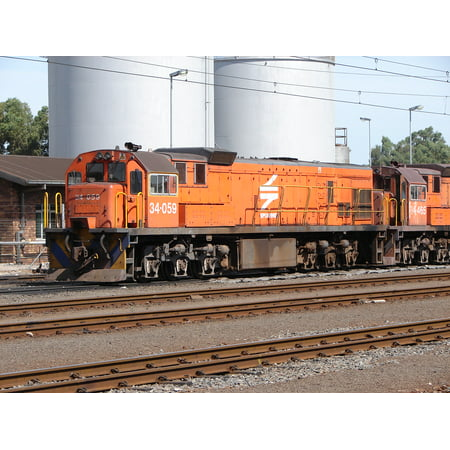 LAMINATED POSTERSouth African Class 34-000 34-059 Builder's Number: GE 37868 Type: GE U26C Location: Bellville Depot Poster Print 24 x 36