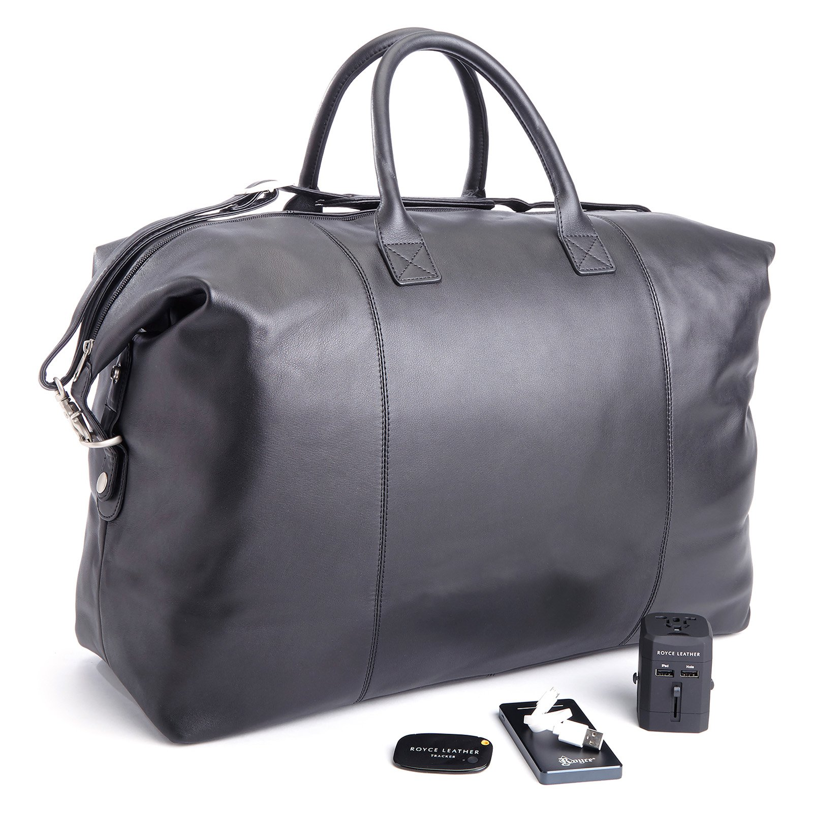 Royce Luxury Expandable Duffel Bag Bluetooth-Based Tracking Device by Emporium Leather Co